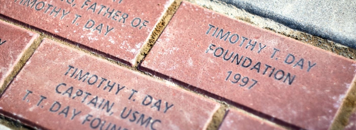 COMMEMORATIVE BRICKS IN SEMPER FIDELIS MEMORIAL PARK